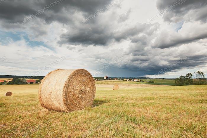 Storm in landscape