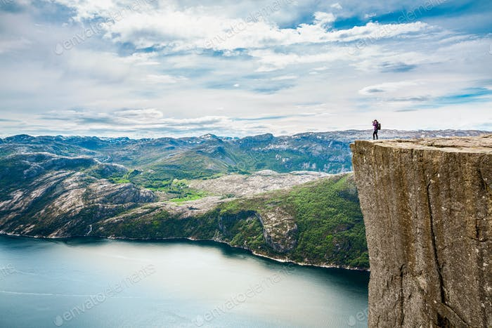 Nature photographer Beautiful Nature Norway Preikestolen or Prek