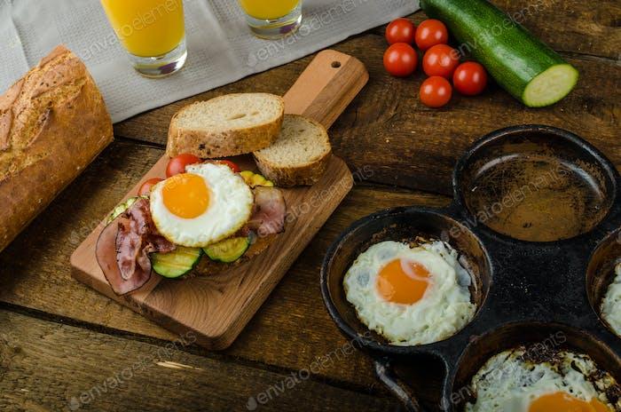 Rustic breakfast