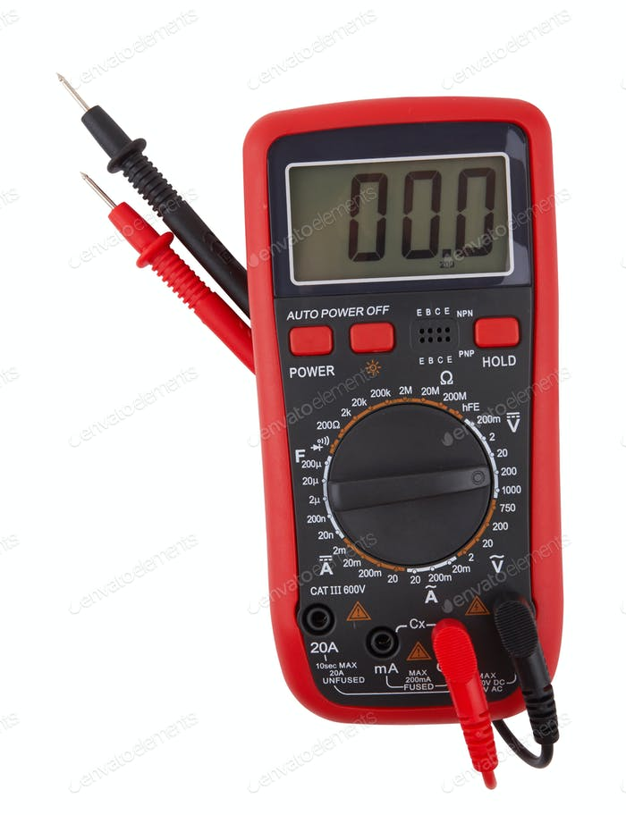 Digital-Multimeter isoliert