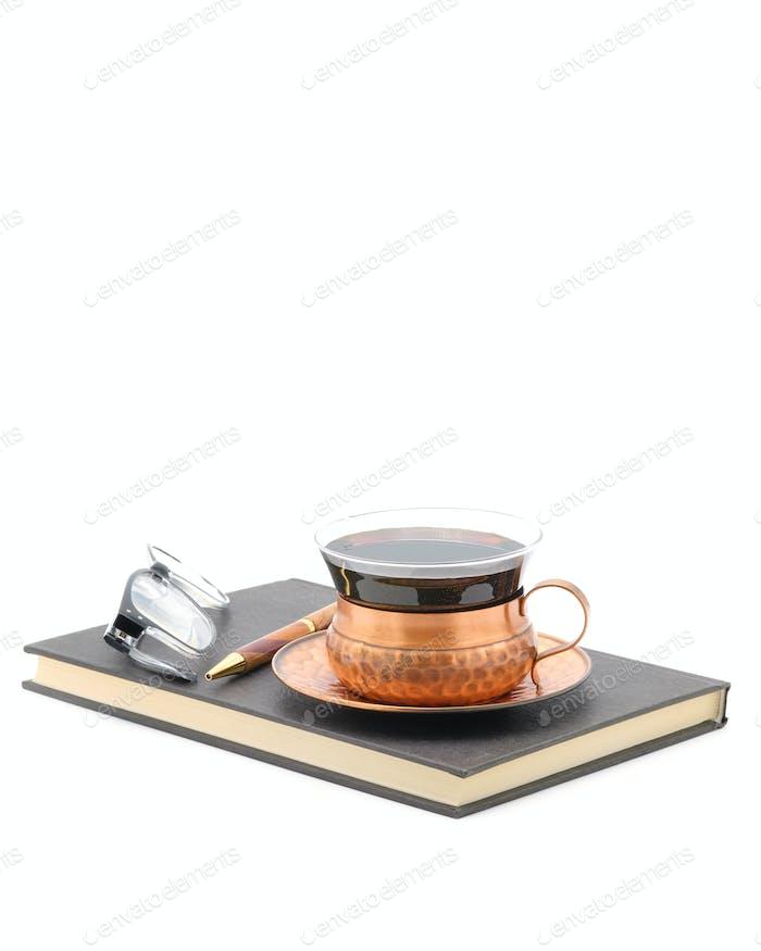 Notebook Tea Gafas y Bolígrafo