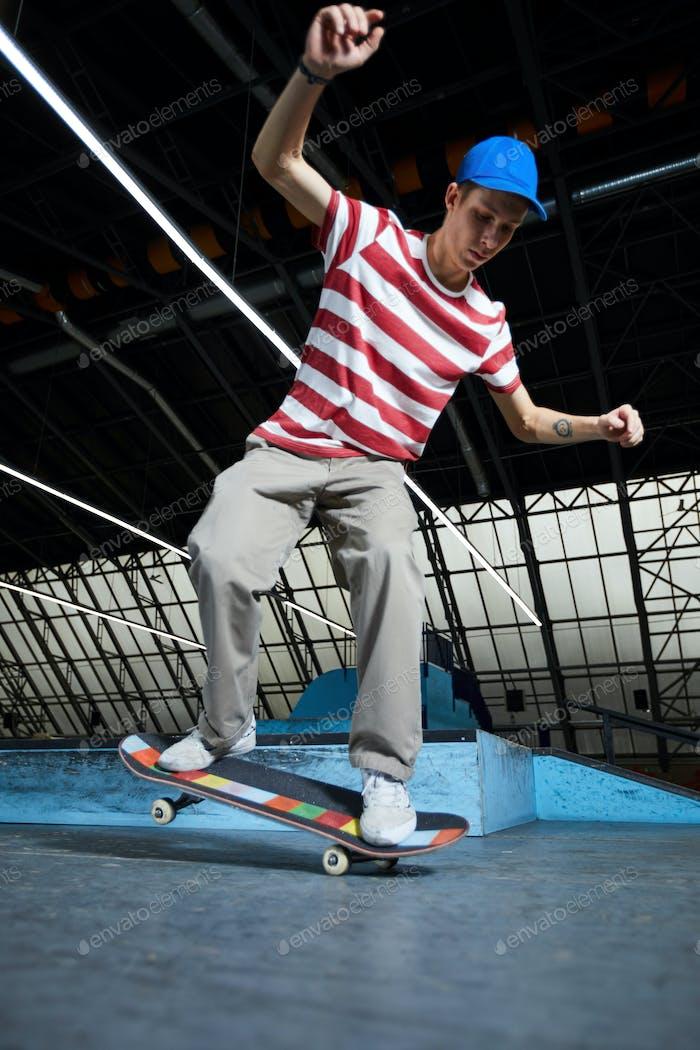 Skilled skateboarder