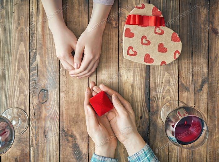 pareja en el Día de San Valentín