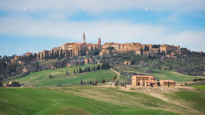 Village of Pienza in Tuscany