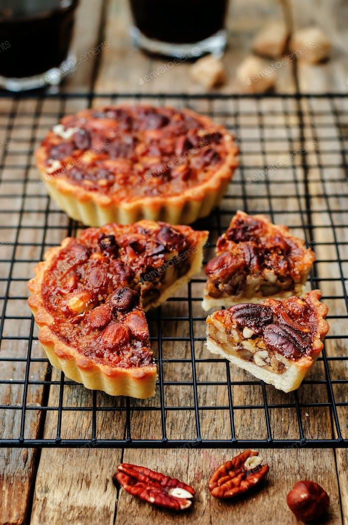 honey nut tartlets