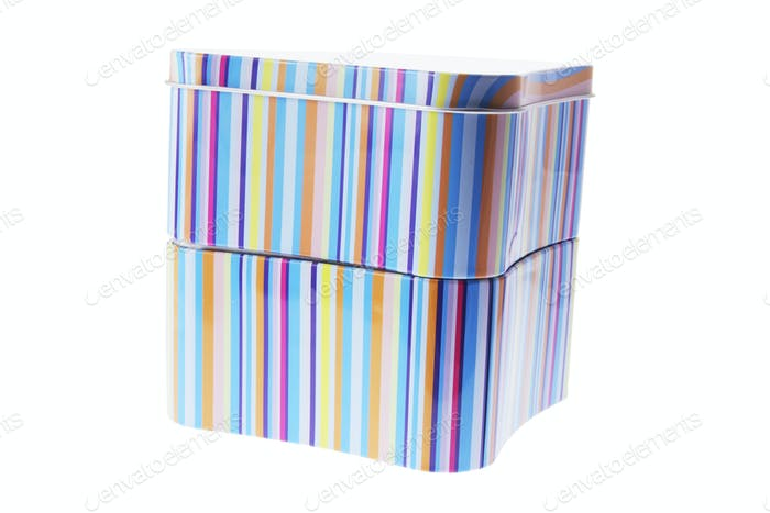 Striped Tin Boxes