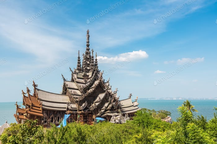 the sanctuary of truth in thailand