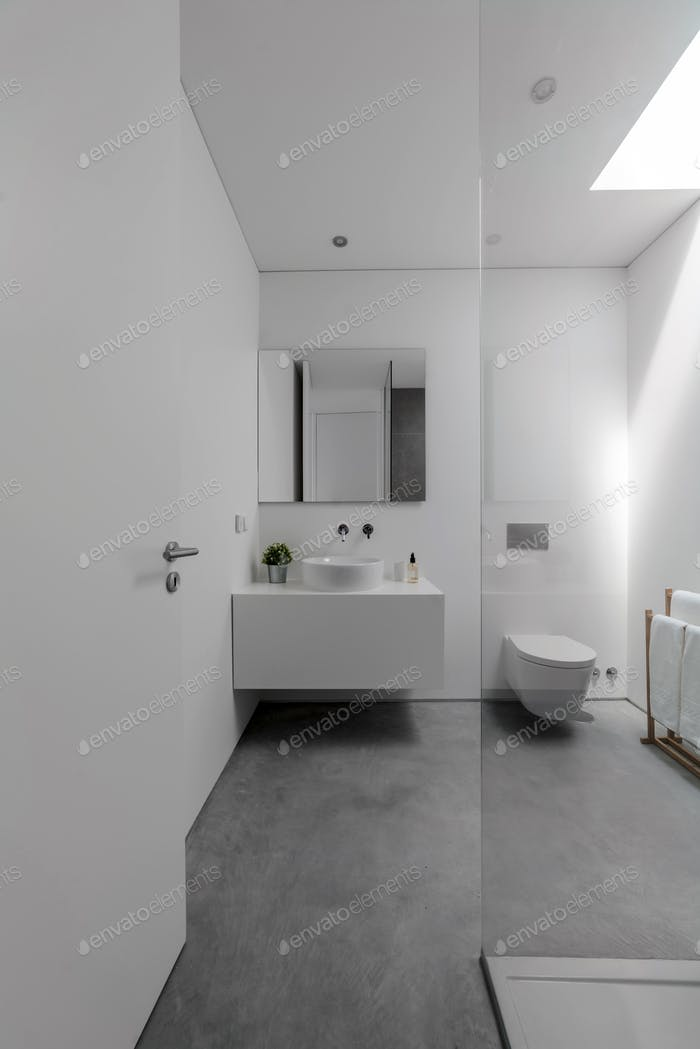 Bathroom inside modern villa house