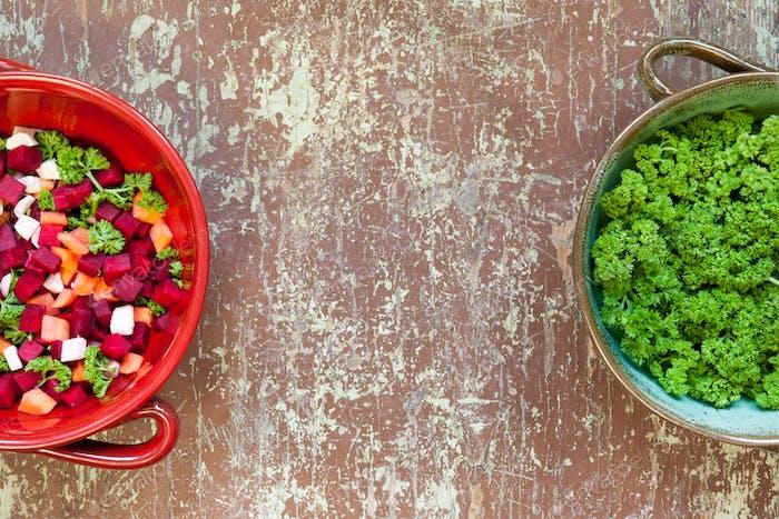 Vegetable soup preparation