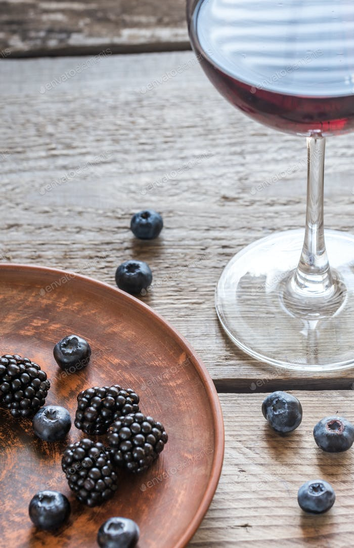 Wine with berries