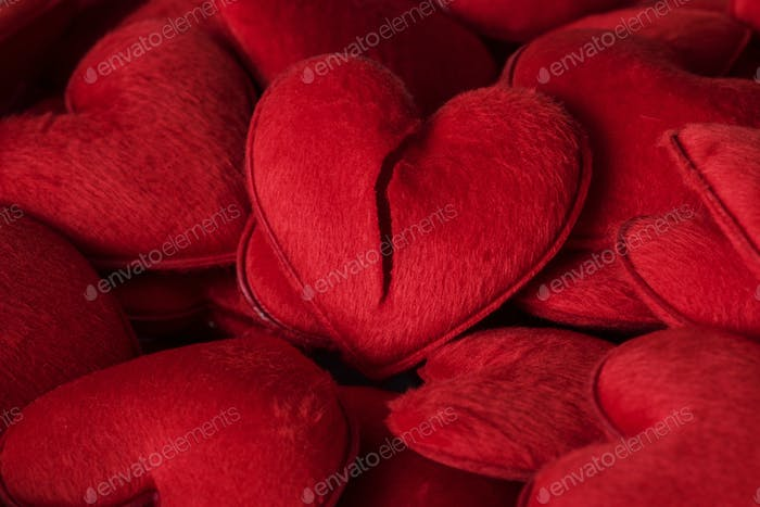 Red heart plush toys