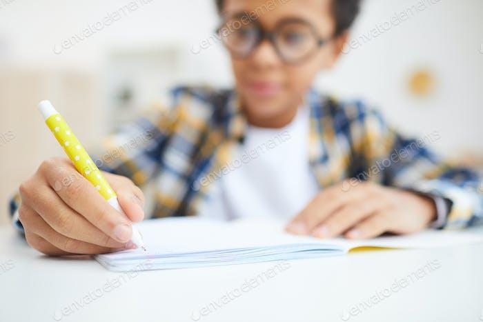 African Boy Doing Homework