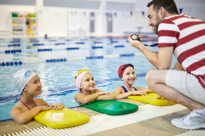 Training in the swimming pool