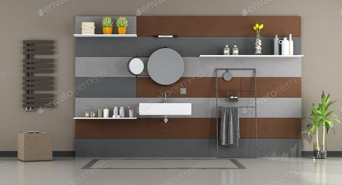 Modern bathroom with washbasin