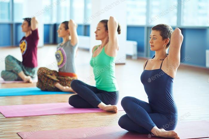 Yoga on the floor