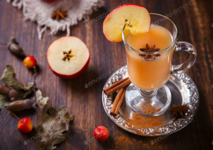 Apple cider drink,juice.Vitamin drink for immunity against the virus.