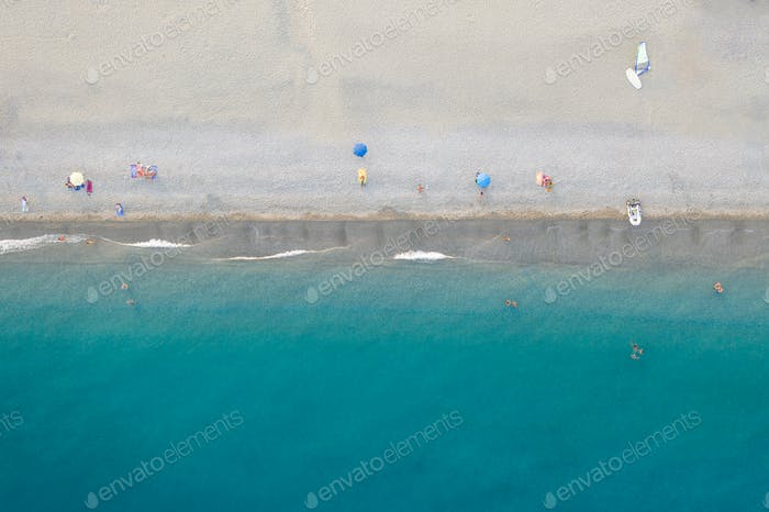 Overhead Mittelmeer Sommer Küstenmeer
