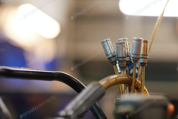 Spark Plug Cables Close Up