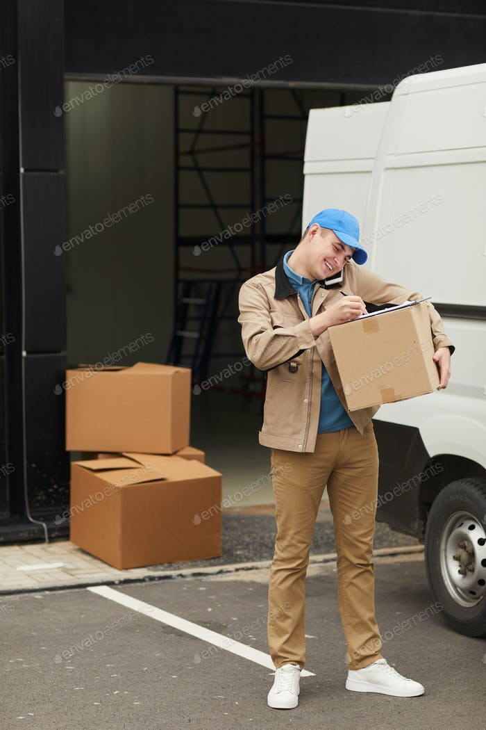 Man working with load
