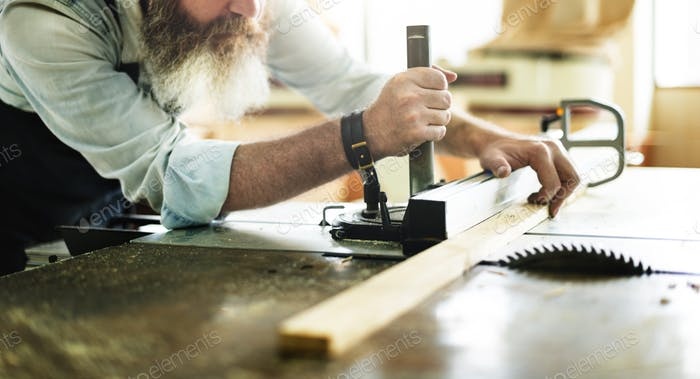 Carpenter Craftmanship Carpentry Handicraft Wooden Workshop Conc