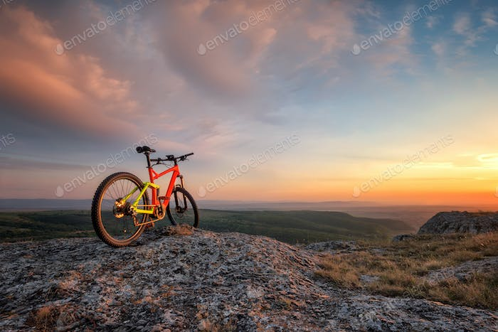 Sunset with a bike
