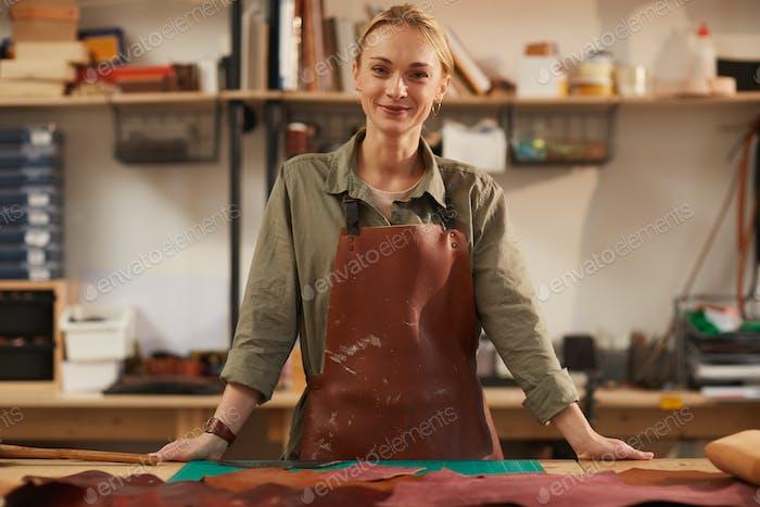 Happy Craftswoman At Work