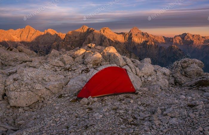 Camping en las montañas