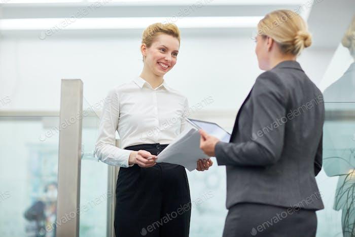 Women interacting