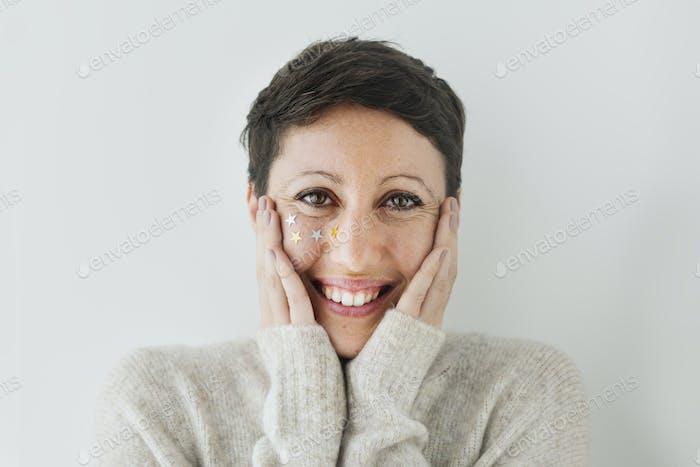 Woman feeling surprised