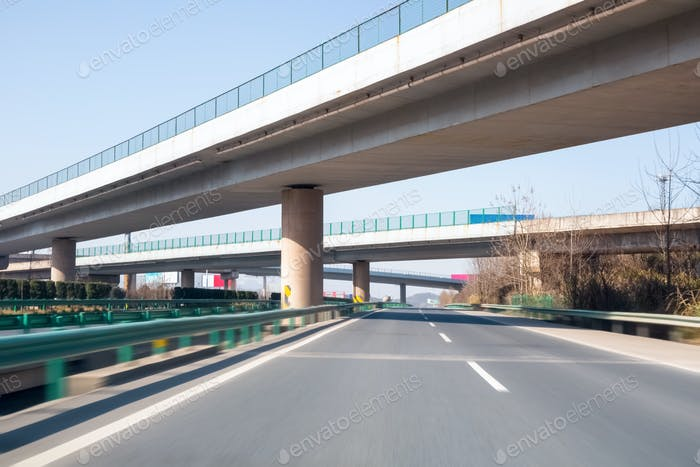 modern freeways with overpass