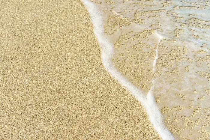 Sea water and sand blank background