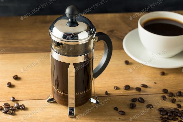 Warm Homemade French Press Coffee