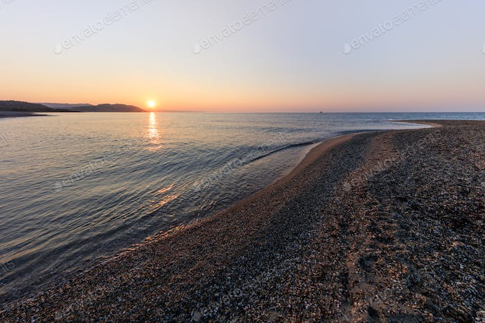 sunrise in Possidi Cape beach, Greece