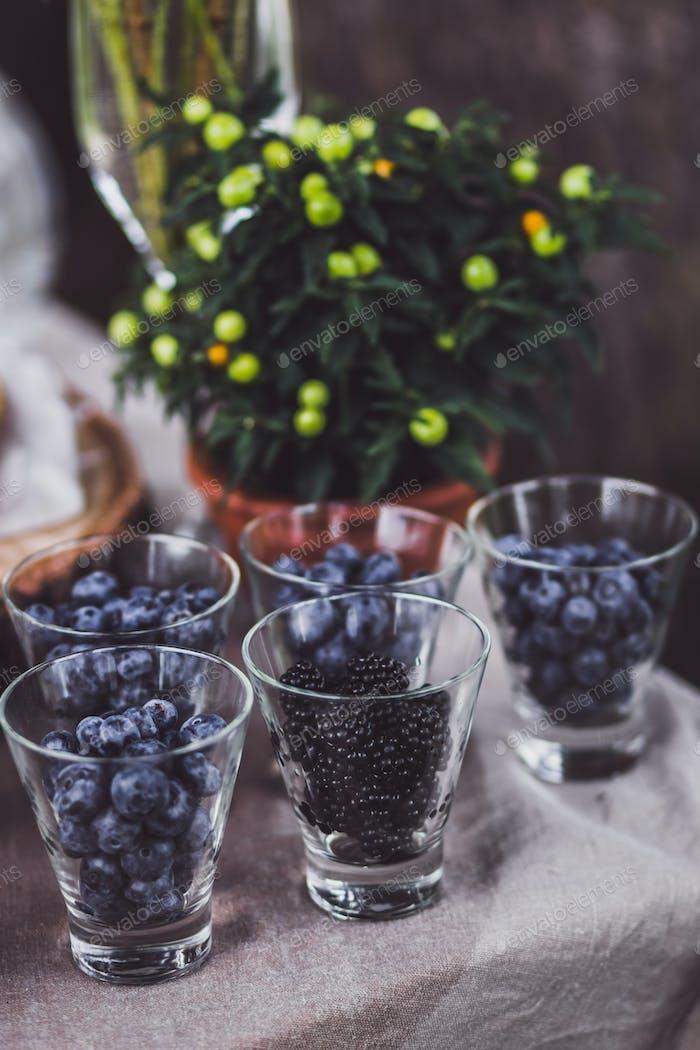 Fresh berries on wedding reception