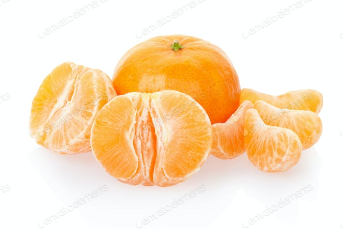Tangerine or mandarin and segments