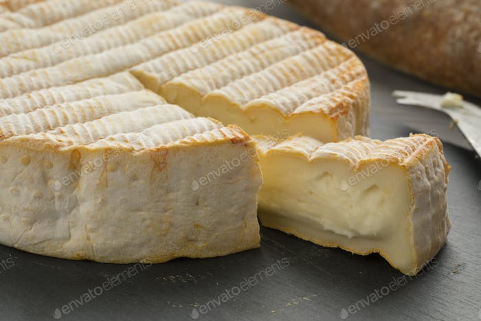 French Le Marcaire cheese on a cheeseboard