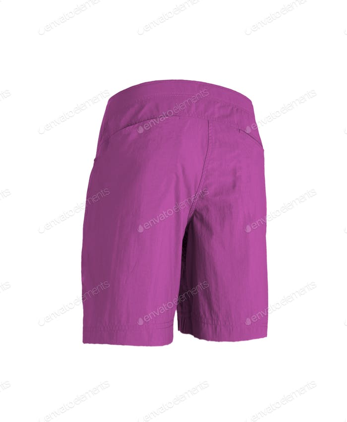 pink shorts isolated on white background