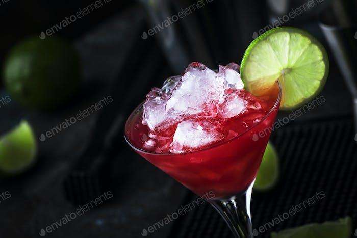 Watermelon cobbler, alcoholic cocktail