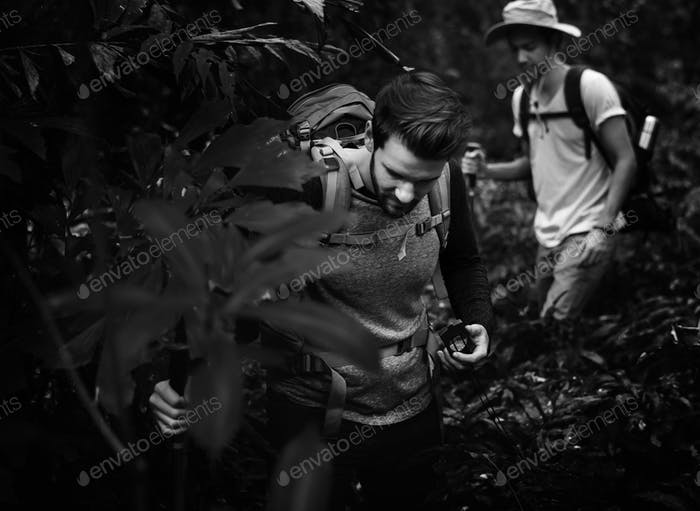 Thumbnail for Trekking in a forest