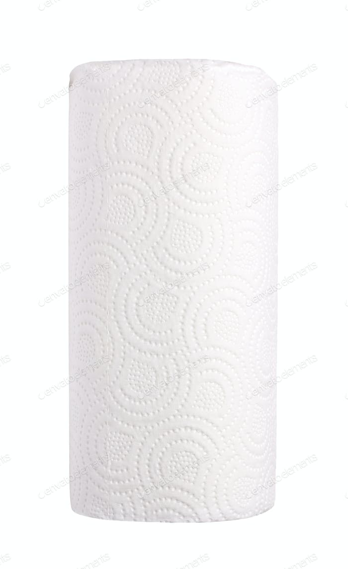 Roll paper isolated on white background