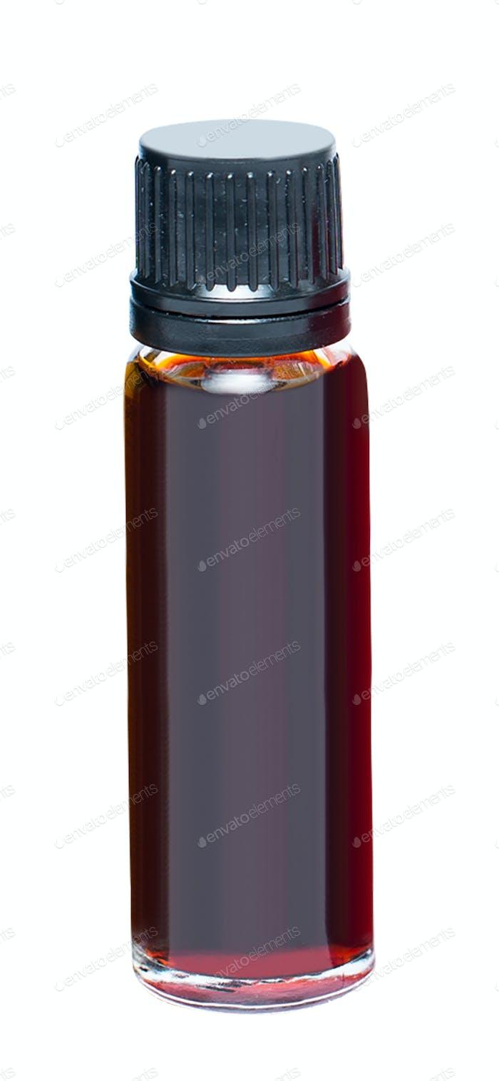 light brown medical bottle