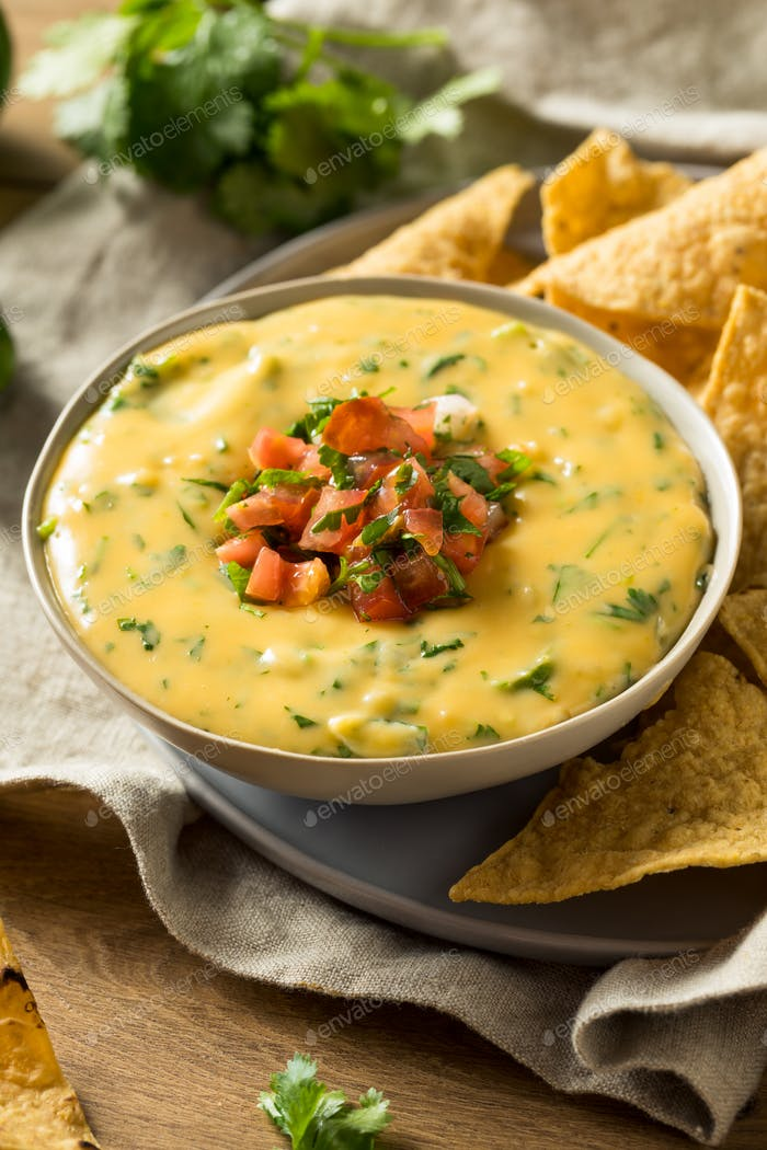 Spicy Homemade Cheesey Queso Dip