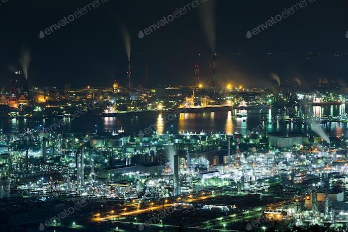 Mizushima coastal industrial area