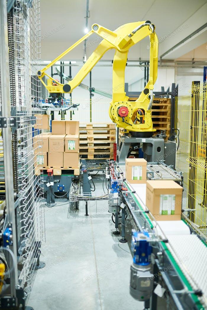 Industrial Picking Robot at Work