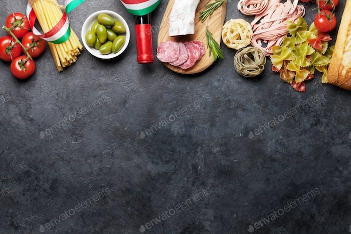 Italienische Küche Lebensmittelzutaten