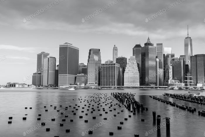 View of lower Manhattan in New York