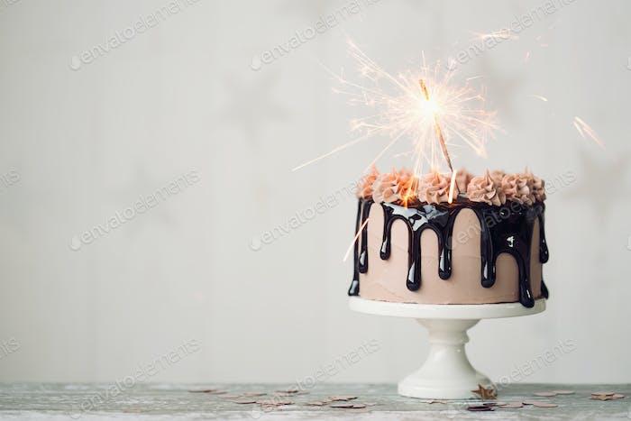 Schokolade Geburtstagskuchen