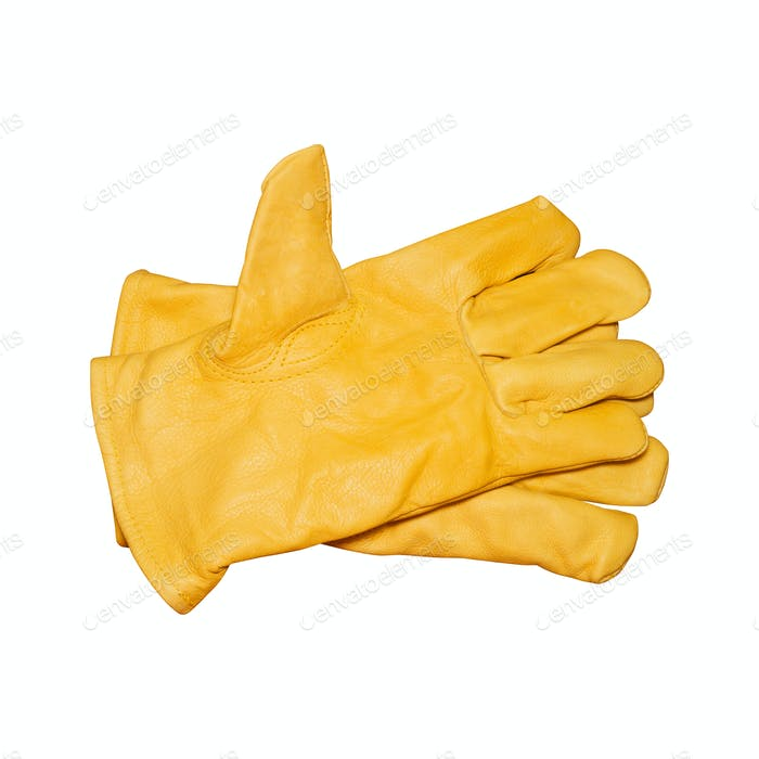 Yellow safety gloves