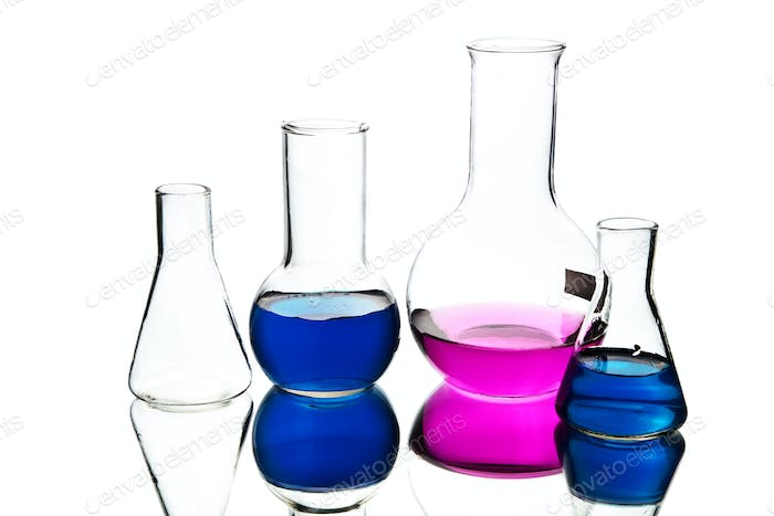 chemical laboratory equipment isolated