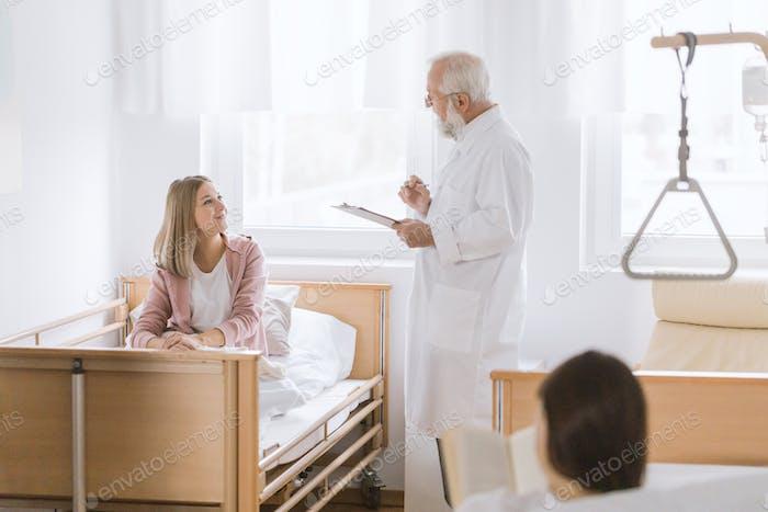Discharging the patient